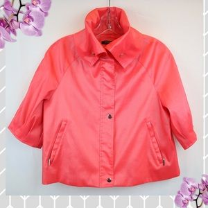 Samuel Dong | Crop Coral Jacket  with High Collar